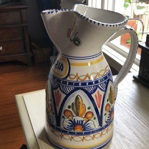 Spanish Ceramic Sangria Pitcher
